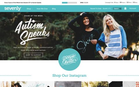 Screenshot of Home Page sevenly.org - Sevenly | Designs to Inspire Positivity and Change™ - captured Oct. 26, 2015