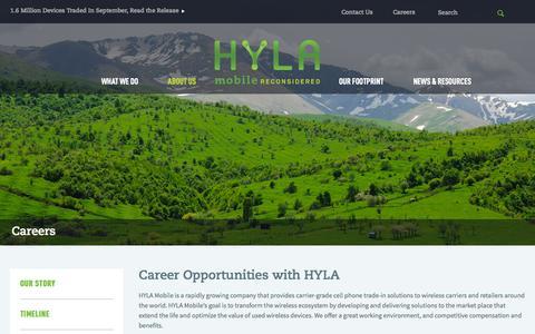 Screenshot of Jobs Page hylamobile.com - Careers   HYLA Mobile - Mobile Reconsidered - captured Nov. 4, 2014