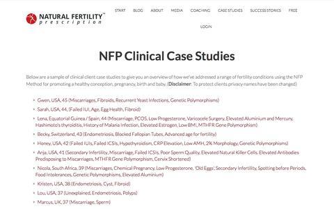 Screenshot of Case Studies Page natural-fertility-prescription.com - NFP Clinical Case Studies l Natural Fertility Prescription - captured June 11, 2017