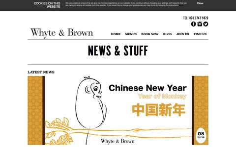 Screenshot of Blog whyteandbrown.com - BLOG - Whyte and Brown - captured Feb. 14, 2016