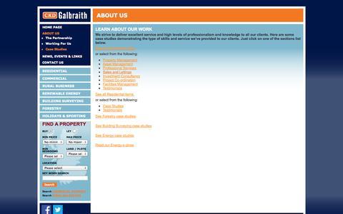 Screenshot of Case Studies Page ckdgalbraith.co.uk - Case studies | CKD Galbraith - captured Sept. 19, 2014