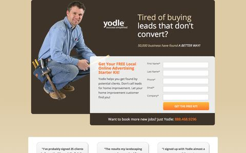 Screenshot of Landing Page yodle.com - Internet Marketing Essentials | Yodle - captured Oct. 19, 2016