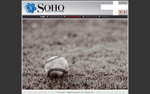 Screenshot of Home Page soho-sports.com - SoHO Sports - captured Oct. 6, 2014
