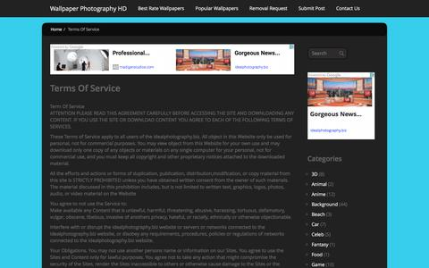 Screenshot of Terms Page idealphotography.biz - Terms Of Service   Wallpaper Photography HD - captured June 7, 2017
