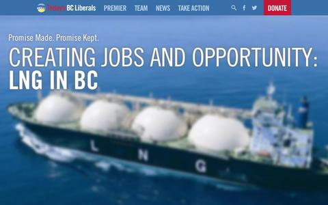 Screenshot of Home Page terrylake.ca - Home | Today's BC Liberals - captured Oct. 9, 2015