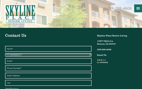 Screenshot of Contact Page milestoneretirement.com - Contact Us | Skyline Place Senior Living - captured Jan. 25, 2017