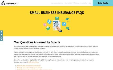 Screenshot of FAQ Page insureon.com - FAQ | Insureon - captured Feb. 11, 2017