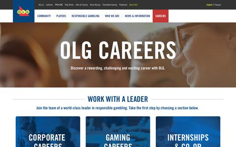 Screenshot of Jobs Page olg.ca - OLG Careers | About OLG - captured June 16, 2017