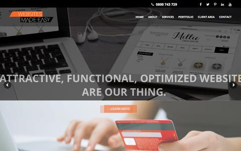 Screenshot of Home Page wsme.co.nz - Websites Made Easy - Custom Website Development NZ - captured July 5, 2018