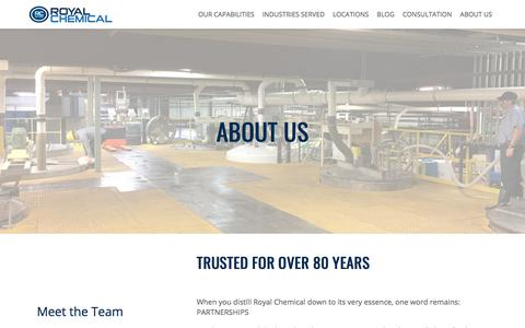 Screenshot of About Page royalchemical.com - About Us | Royal Chemical - captured March 22, 2018