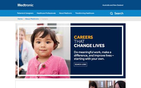 Screenshot of Jobs Page medtronic.com - Careers - captured March 21, 2018