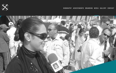 Screenshot of Press Page nadazeidan.com - Media - Nada Zeidan Official Website - captured Jan. 29, 2018