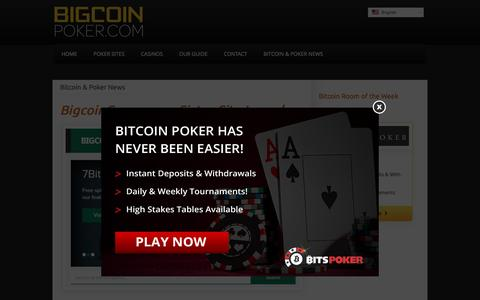 Screenshot of Press Page bigcoinpoker.com - Bitcoin & Poker News Archives - BigcoinPoker.com - captured Feb. 7, 2016