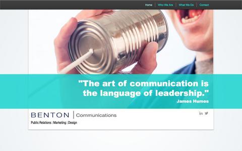 Screenshot of Home Page bentoncommunications.com - creative-portfolio - captured Oct. 10, 2017