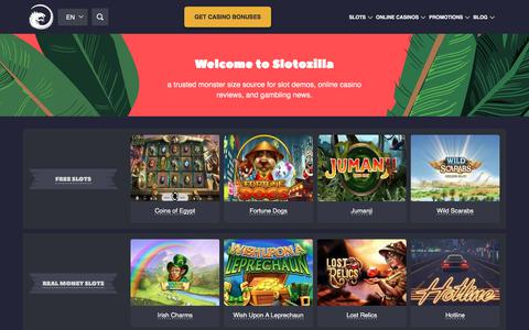 Screenshot of Home Page slotozilla.com - Online Casino Slots - 3000+ Slot Machine Games | Slotozilla.com - captured Sept. 19, 2018