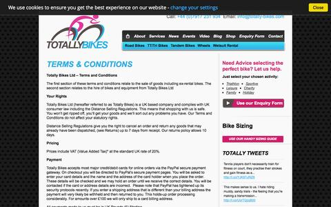 Screenshot of Terms Page totally-bikes.com captured Oct. 9, 2014