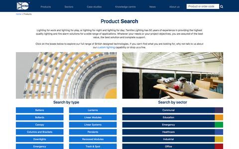 Screenshot of Products Page tamlite.co.uk - Products   Tamlite Lighting United Kingdom - captured Nov. 14, 2017