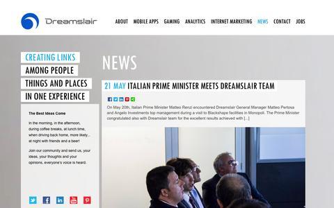 Screenshot of Press Page dreamslair.com - News   Dreamslair - captured Oct. 5, 2014