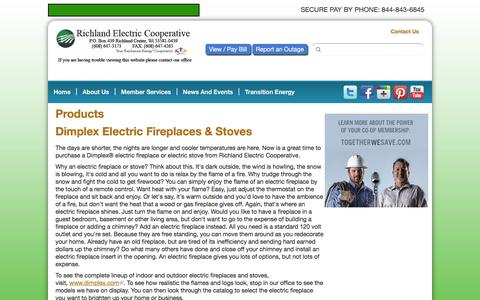Screenshot of Products Page rec.coop - Products | Richland Electric Cooperative - captured Feb. 22, 2016