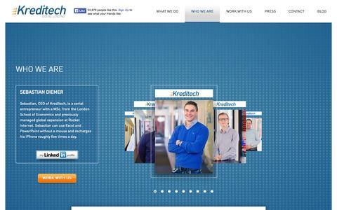 Screenshot of Team Page kreditech.com - Kreditech   –  Who we are - captured Sept. 16, 2014