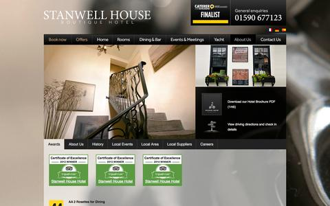 Screenshot of About Page stanwellhousehotel.co.uk - Discover Stanwell House Hotel and the surrounding area - captured Oct. 7, 2014