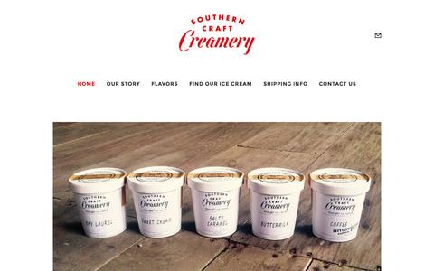 Screenshot of Home Page southerncraftcreamery.com - Southern Craft Creamery | Handcrafted Ice Cream | Marianna, Florida - captured Feb. 25, 2016