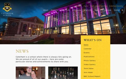 Screenshot of Press Page caterhamschool.co.uk - News | Caterham School - captured May 15, 2017