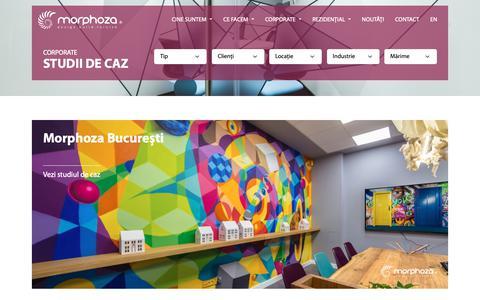 Screenshot of Case Studies Page morphoza.ro - Proiecte - Morphoza - captured Oct. 20, 2018