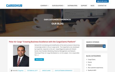 Screenshot of Case Studies Page cargohub.nl - Our customers experiences Archives - Cargo logistics quality and compliance platform | cargohub - captured Sept. 27, 2018