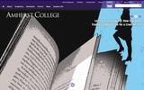 Old Screenshot Amherst College Home Page
