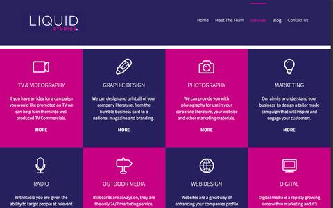 Screenshot of Services Page liquidstudios.co.uk - Our Services | Liquid Studios | Carlisle, Cumbria - captured Nov. 9, 2016