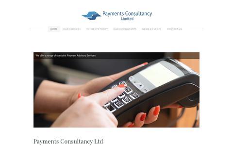 Screenshot of Home Page payments-consultancy.com - Payments Consultancy Limited - Payments Consultancy Limited - captured Dec. 14, 2018