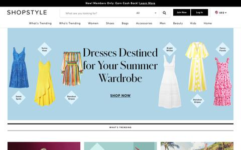 Screenshot of Home Page shopstyle.com - ShopStyle: Search and find the latest in fashion - captured June 30, 2019