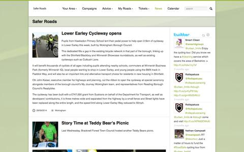 Screenshot of Press Page saferroads.org - News | Safer Roads - captured Oct. 26, 2014