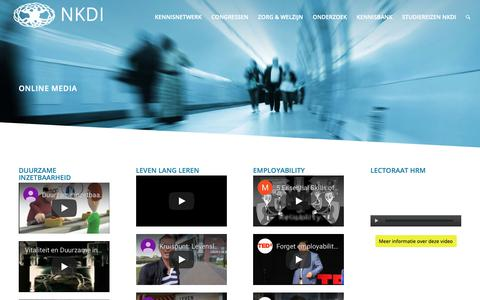 Screenshot of Press Page nkdi.nl - Bekijk online media over duurzame inzetbaarheid - captured Oct. 24, 2018