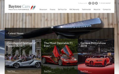 Screenshot of Press Page baytreecars.com - Latest News - Baytree Cars - captured Aug. 1, 2018