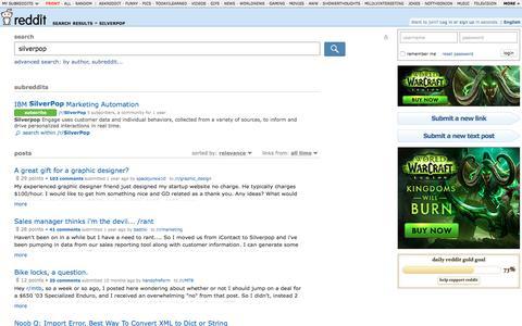 reddit.com: search results - silverpop