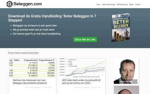 Screenshot of Blog beleggen.com - Blogs en artikelen over beleggen - captured Oct. 5, 2018