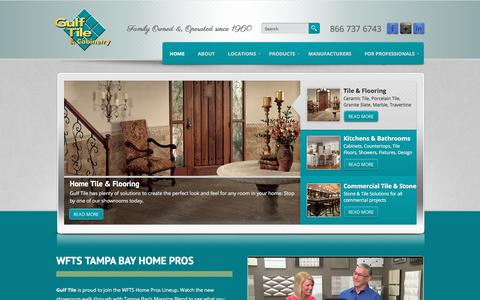 Screenshot of Home Page gulftile.com - Tile, Stone & Kitchen Remodels in Tampa, Clearwater, St Petersburg - captured Sept. 24, 2017