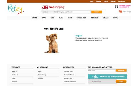 Screenshot of Site Map Page petzy.com - Petzy : Online Pet Food | Accessories | Toys | Wholesale Suppliers - captured Oct. 8, 2014