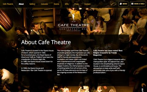 Screenshot of About Page cafetheatre.be - About Cafe Theatre - Cafe Theatre - captured Sept. 26, 2014