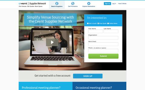 Finding Venues for Meetings and Events | Cvent