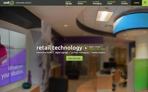 Screenshot of Home Page gocodigo.com - Codigo | Retail Media Solutions - captured Sept. 18, 2015
