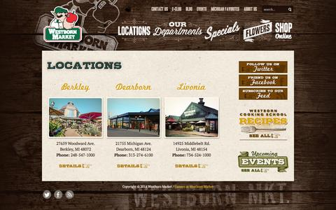 Screenshot of Locations Page westbornmarket.com - Westborn Market Locations - Westborn Market - captured Oct. 7, 2014