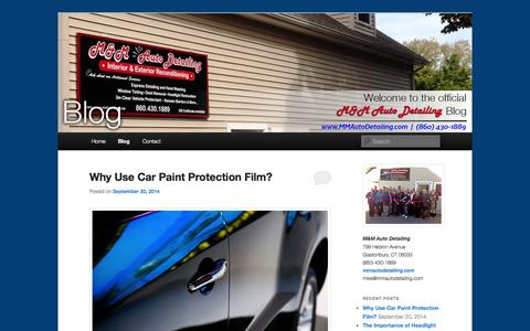 Screenshot of Blog mmautodetailing.com - Auto Detailing Blog | Car Detailer Blog - M&M Auto Detailing LLCM&M Auto Detailing Blog | Connecticut Auto Detailer - captured Oct. 3, 2014