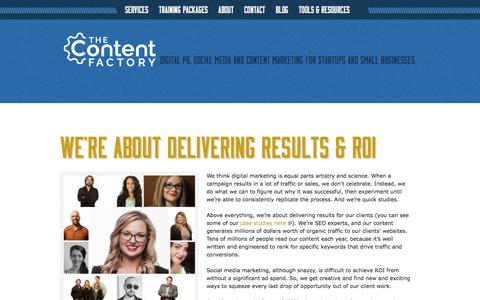 Who We Are: The Content Factory's Team, Skills and Results
