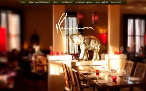Screenshot of Home Page rasam.ie - The best Indian restaurant in Dublin | Rasam Indian Restaurant - captured Oct. 7, 2014