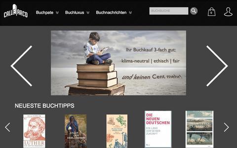 Screenshot of Home Page calle-arco.com - Bücher kaufen - veredeln - wiedererwecken |  Calle Arco - mach Dir mehr aus Büchern - captured Oct. 17, 2016