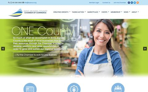 Screenshot of Home Page annearundelchamber.org - Anne Arundel County Chamber of Commerce | Annapolis, MD - captured Dec. 18, 2017