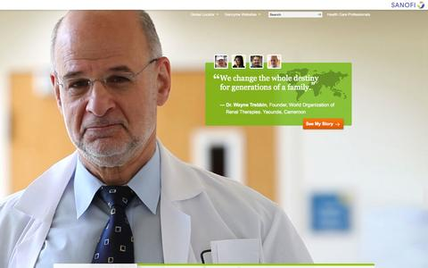 Screenshot of Home Page genzyme.com - Genzyme Corporate Homepage - captured Oct. 10, 2014